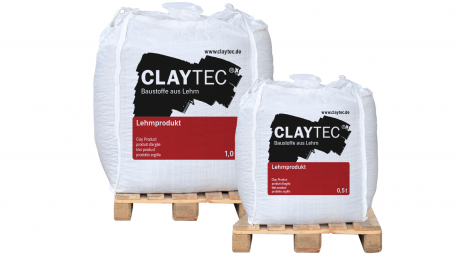 clay colour plaster coarse, with straw