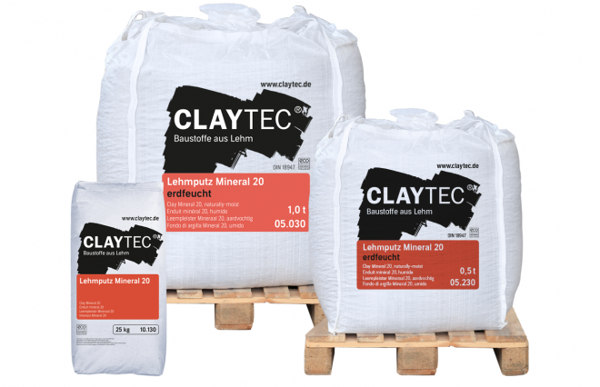Clay plaster MINERAL 20