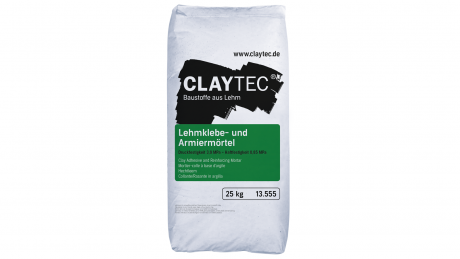 Clay adhesive and reinforcing mortar